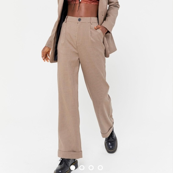 NEW Urban Outfitters Plaid Tailored Trouser Pant